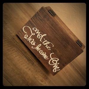 Rustic wedding ring box!!! Brand new!!!